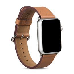$enCountryForm.capitalKeyWord Canada - ZLIMSN Leather Strap Watch Band Original Cowhide Genuine For Apple Watch iWatch 42mm 38mm With Connector New in Retail Package Sample