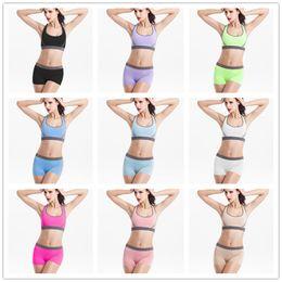 b1d886bc42ab3 Women Sleeping Underwear Canada - Women Sleeping Gym Yoga Tracksuit Set  Crop Top Sports Underpants Wireless