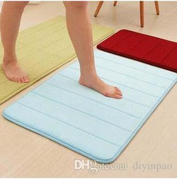$enCountryForm.capitalKeyWord Canada - Thickness Coral Fleece Carpets Slow Recovery Foam Anti-Slip Water Absorption Mat Carpets Kitchen Bathroom Floor Mat Home Decorations