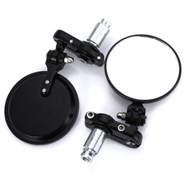 Universal handle bar online shopping - SL Universal Pair Side View Mirrors quot Round Bar End Rear Mirrors Motorcycle Scooters Rearview Mirror For Handle Bar End Mirrors