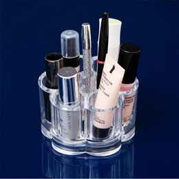 $enCountryForm.capitalKeyWord Canada - Small Round Acrylic Makeup Tool Organization Desktop Storage Box Transparent Lip Gloss Lipstick Eyebrow Pencil Box Free Shipping