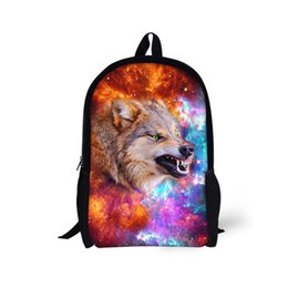 019706ec4c5b Designer Teen Boys School Bag Cool Children Printing Wolf Horse Schoolbags  Cool Primary Middle School Child Kids Book Bag Mochil