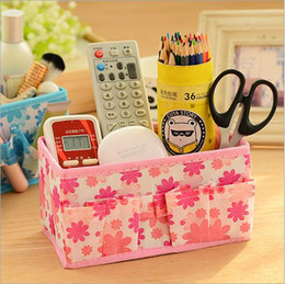$enCountryForm.capitalKeyWord Canada - hot sale cute lovely foldable flowers storage box storage holder desk decor cosmetic stationery makeup organizer container free shipping