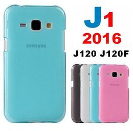 silicone frosted hard case cover 2019 - Wholesale-J1 2016 Hybrid Rubberized Matte Cover Hard Case For  Galaxy J1 2016 J120 J120F Soft Silicone Cover Frosted Mat