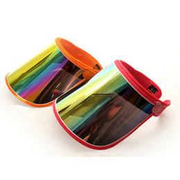 Anti Uv Sun Visor Canada - Cap Wholesale Visors For Car Anti UV Light Cap PC Sun Hat Colorful Board To Ride Sun Visors