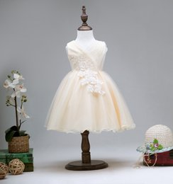 $enCountryForm.capitalKeyWord Canada - Princess dress for kids formal dresses for girls children party prom tutu skirts wedding bridesmaid dress with lace flowers C-3