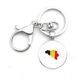 Élégant Creative Keychain Drapeaux Porte-clés Exquis Bulgarie et Belgique et Islande Drapeau Porte-clés Décoration Voiture Pendentif Cadeau en Solde