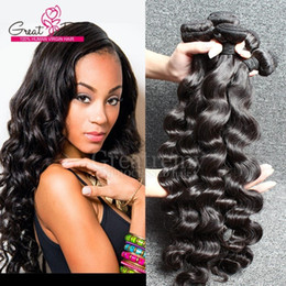 Peruvian Deep Curly Wavy Hair Canada - AAAAAAA+ Peruvian Wavy Loose Deep Wave Hair Extensions Peruvian Loose Curly Hair Weave Weft Natural Dyeable Remy Hair greatremy