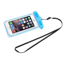 cell phone 4.5 inch 2019 - New Clear Travel Swimming Waterproof Pouch Dry Bag Case Cover for 5.5 inch Cell Phone for Iphone 4 4S 5 5S 6 6S Plus Sup