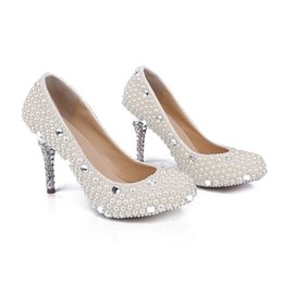 discount jeweled wedding shoes bridal elegant new pearls wedding shoes women rhienstone pumps jeweled high heel
