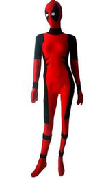 $enCountryForm.capitalKeyWord Canada - Lady Deadpool Costume Red full body spandex girl women female Killer Queen Costume Prelude to Deadpool Corps Cosplay Bodysuit
