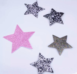 Wholesale motif design for clothing resale online - Fangle pink star design hotfix rhinestone motif iron on patches applique for heat transfer clothing shoe bag diy