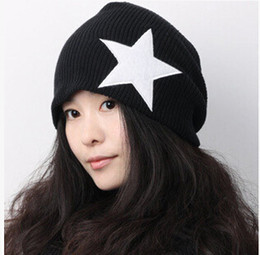 $enCountryForm.capitalKeyWord Australia - 2016 new men winter five-pointed star pattern wool hats designer couple loose warm knitting caps Christmas Gifts for women free shipping