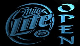 Miller lite bar lights dhgate uk ls708 b miller lite beer open bar neon light signg aloadofball Gallery