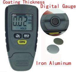 Coating Thickness Meter NZ - Wholesale-Automotive measure RM660 Paint Coating Thickness Gauge Digital Meter Instrument Tester 0-1.25mm Iron Aluminum Base Metal Car