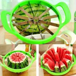 Melon d'eau en acier inoxydable Melon Cutter Cantaloupe Cuisine Slicer Fruit Divider # R362 en Solde