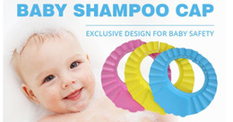 child shampoo shield NZ - Adjustable Shower cap protect Shampoo for baby health Bathing bath waterproof caps hat child kid children Wash Hair Shield Hat