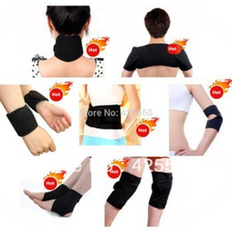 Tourmaline self heaTing magneTic Therapy waisT online shopping - Tourmaline self heating waist belt kneepad neck wrist ankle support shoulder pad elbow magnetic therapy Braces set health care