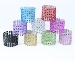 China 2016 Colorful Diamond Napkin Ring for Table Kitchen Serviette Holder Wedding Banquet Dinner Christmas Decor Favor cheap wedding napkins serviettes suppliers