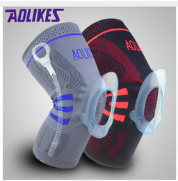 patella knee protector 2019 - AOLIKES Pcs pair Patella Knee Sliders Damping Kneepads Basketball Knee Pads Supporting Brace Wrap Protector Cycling Voll