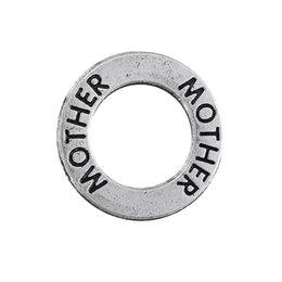"$enCountryForm.capitalKeyWord NZ - Fashion 50pcs A Lot Antique Silver word ""mother"" circle family charms"