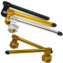 2шт Универсальный гоночный регулируемый CNC 37/41 / 43MM Clip On Ons Riser Fork Handlebars Handle Bar Cafe Racer Motorcycle