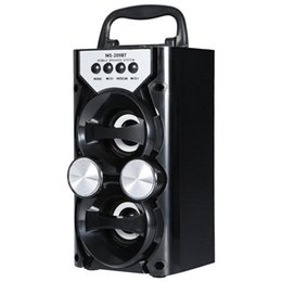 China Wholesale- Portable High Power Output FM Radio Wireless Bluetooth Speaker Supports TF Card USB Volume Control Led flashing Loundspeaker cheap powered floor standing speakers suppliers