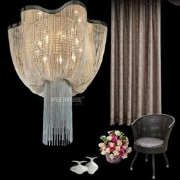 French Chain Chandelier Light Fixture Empire Vintage Hanging Suspension Lustre Lamp For Living Room Hotel Project MD2608 Affordable Dining