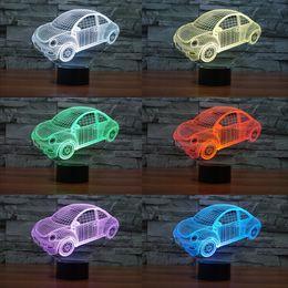 Discount volkswagen card - 2017 Beetle Volkswagen hot 3D Night Lamp Optical Night Light 9 LEDs Night Light DC 5V Factory WholesaleEiffel Towe
