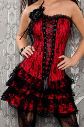 Wholesale new sexy body dresses for sale – plus size New style red lace corset dress full body corset gothic corset dresses M1605