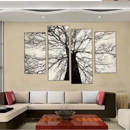Painting Canvas Black White Tree Online Shopping Painting Canvas