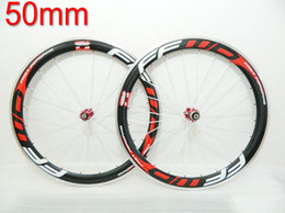 16 Rear Wheel Canada - 50mm FFWD Clincher Powerway R36 HubS V Brake Carbon Straight Pull Wheels Carbon Road Bicycle Wheelset