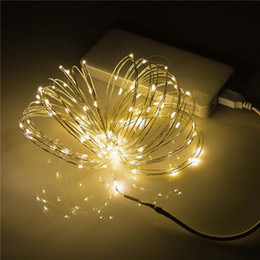 Discount Colored Patio Lights Wholesale  10M USB 100 LED String Lights  Waterproof Thin Copper Starry