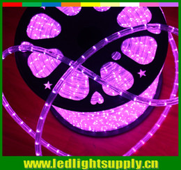 Wholesale 50M ft v wire mm round LED Christmas lights waterproof rainbow rope outdoor ribbon strip clear PVC tube light leds m