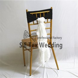 White Wedding Chairs For Sale Australia - Hot Sale Lycra Spandex Chair Band With White Chiffon Chair Sash For Chiavari Chair Decotation Free Shipping