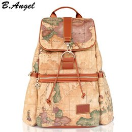 Map print backpack online map print backpack for sale 2016 fashion vintage high quality world map backpack women backpack leather backpack printing backpack hc z 801 gumiabroncs Image collections