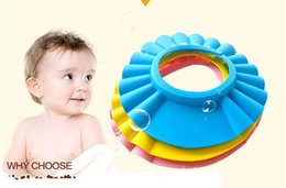 Baby Wash Hair Australia - Adjustable Shower cap protect Shampoo for baby health Bathing bath waterproof caps hat child kid children Wash Hair Shield Hat