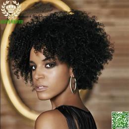 Kinky Curly Human Hair Afro Wigs Australia - Short Human Hair Full Lace Wig Brazilian Hair Afro Kinky Curly Glueless Lace Front Human Hair Wigs For Black Woman