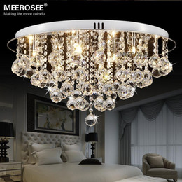 round crystal ceiling light fitting g surfase mounted lustres de cristal crystal lighting for hallway lamparas de techo home lamparas led cristal for sale