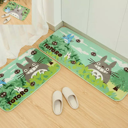 Discount Green Kitchen Rugs 2018 New Arrival Grin TOTORO Door Mat Cute  Cartoon Bedside Kitchen Rug