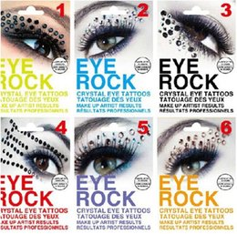 Autocollants Pour Les Yeux Pas Cher-DIY Eye Rock Eyeshadow Autocollant Eyeliner Tattoo Eyerock cristal diamant Eye Shadow Stickers Rhinestone Art Eye Majic Livraison gratuite