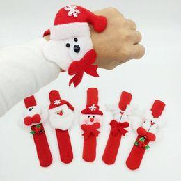 Watch Long Bracelet Canada - HOT Santa Claus Pat circle bracelet Milu deer snowman Christmas decorations watches for children wristband christmas gift Free DHL FedEx