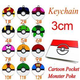 $enCountryForm.capitalKeyWord Canada - Newest Cartoon Pocket Monster Pikachu Action Figures Poke Ball Anime Keychain Keyring Pendant Halloween christmas gifts 2016 New