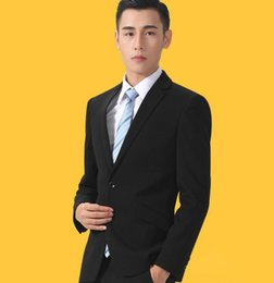 Sale Dress Suits Canada - Latest hot sale man suit handsome PROM dress formal fashion style high quality dress simple style suit two-piece (jacket + pants)