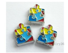 $enCountryForm.capitalKeyWord NZ - 10PCS Autism awareness Floating Charms Fits For Glass Living Memory Locket FC154