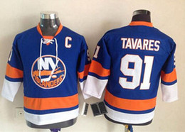 New Black Youth Kids New York Islanders 91 John Tavares Jersey Royal Blue  ... ee5b28d95