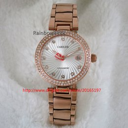 Round Clock Movement Canada - Hot Sale quartz movement diamond Women Watch rose gold Full Stainless Steel Famous Silver Casual Clock for girl AA101