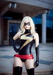 $enCountryForm.capitalKeyWord Canada - Ms Marvel Costume Shiny Metallic Zentai Halloween Cosplay Bodysuit for Women Girls Female Lady Catsuit