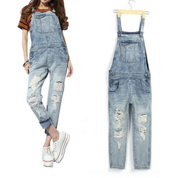 $enCountryForm.capitalKeyWord Canada - Fashion New Nice Women Clothes Spring Hole Pants Sexy Straight Ladies Overalls Jeans Pants Ripped Hole pocket Wild Retro Jeans for Women