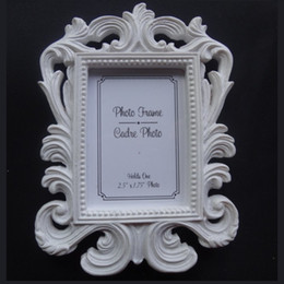 Framed shower online shopping - Victorian Style Resin White Black Baroque Picture Photo Frame Place Card Holder Bridal Wedding Shower Favors Gift ZA1230